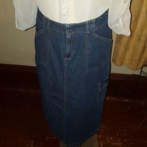 White stag brand size 14 women's denim long skirt